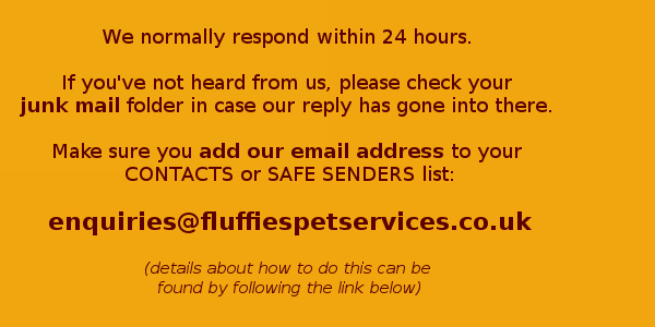 Add our email address to your safe senders list to avoid missing our reply